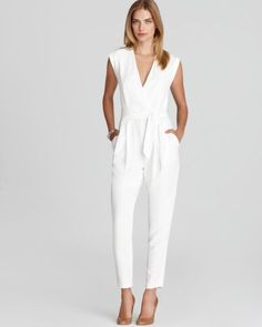 Women+Dress+Jumpsuits   Theory Jumpsuit Provence in White - Lyst
