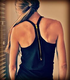 Diy Zipper tank--love this!