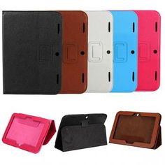 Folio Holder Stand PU Leather Tab Cover For Lenovo IdeaTab A2109