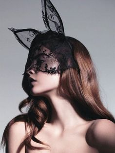 The lace bunny ears accessory