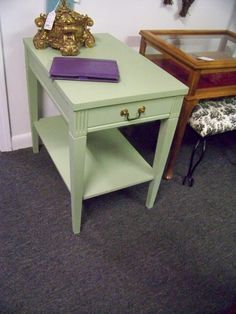 SOLD.Painted end table. www.chconsignment.com