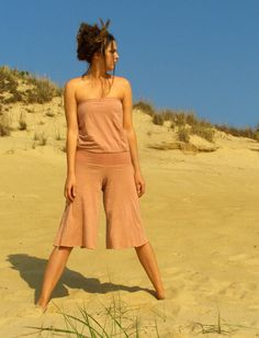 Gaia Conceptions Organic Clothing - Floating Tube Wanderer Gauchos Jumper, $150.00 (http://www.gaiaconceptions.com/floating-tube-wanderer-gauchos-jumper/)