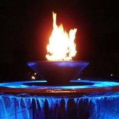 water and fire pool features - Google Search