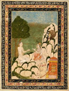 Layla and Majnun.  Indian. Later Mughal period 18th century.   Object Place: Northern India or Deccan