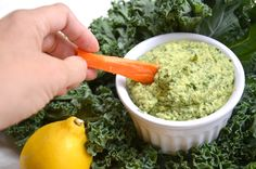 Kale Hummus. Skip the oil & salt.