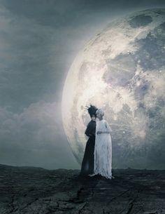 "stopdropandvogue: ""The Moon"" photographed by Hong Jang Hyun I& thinking Melancholia Editorial Photography, Art Photography, Contemporary Photography, Fashion Photography, Drawing Down The Moon, Night On Earth, Heavy Water, Dark Artwork, Surreal Photos"