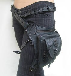 alternative to the fanny pack?  Yes, I think so.  I wonder how well my sewing machine will take leather....