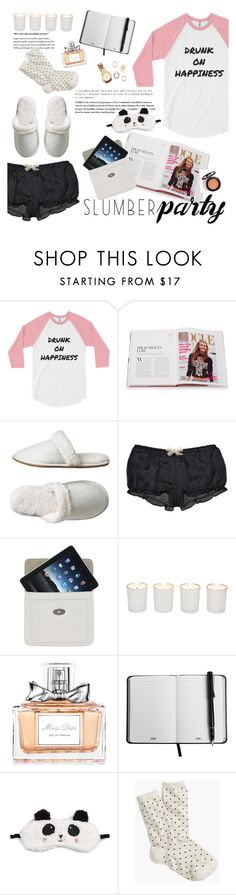 """Sleep on It! Slumber Party Style"" by bookandballads ❤ liked on Polyvore featuring Rizzoli Publishing, Gap, Kiki de Montparnasse, Mulberry, Witchery, Christian Dior, P.J. Salvage, J.Crew and slumberparty"