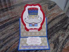 Carolyn's Card Creations: Santa Stache Easel Card