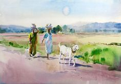 Milind Mulick Watercolour Paintings