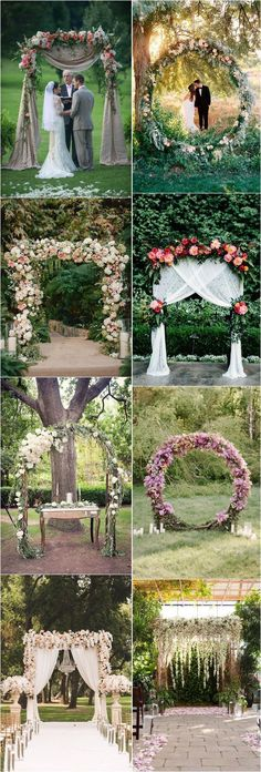 Top 20 Flower Wedding Arch Canopy Ideas - Flower Arches and Backdrops # . Top 20 floral wedding arch canopy ideas – flower arches and backdrops Floral Wedding, Fall Wedding, Rustic Wedding, Wedding Flowers, Dream Wedding, Trendy Wedding, Wedding Simple, Wedding Tips, Wedding Photos