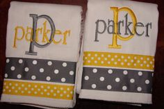 Love! Set of TWO Burp cloths BOY GIRL Lots of Styles and Colors CReAtE your own