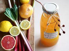 Rhubarb & Grapefruit Lemonade Recipe by Fee ist mein Name {Birthday Brunch Party}