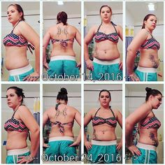 Day 10 of my 24 day challenge (second time around). Ive lost 9 overall inches and 2.6 pounds. I feel good and enjoy seeing the results!!! - Chelsea Mitchell