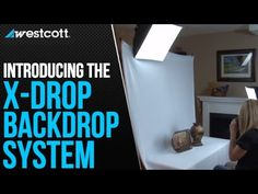 Westcott   X-Drop 5' x 7' Wrinkle-Resistant Backdrop Kit - Complete easy-to-use 5' x 7' backdrop system.