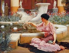 A Pompeian Garden (John William Godward - 1904)