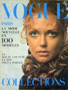 Redingote Yves Saint-Laurent en couverture de Vogue septembre 1969, photo Jeanloup Sieff