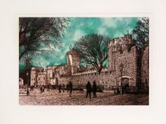 """""""Tower of London, Emerald"""" by Jonnie Temple  Original  The Royal Gallery  www.theroyalgallery.co.uk/index.php?location=item&item=1723&art=Originals&source=2"""