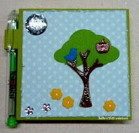 BaRb'n'ShEll Creations-Stampin'up Tree punch-covered post it notes-BaRb