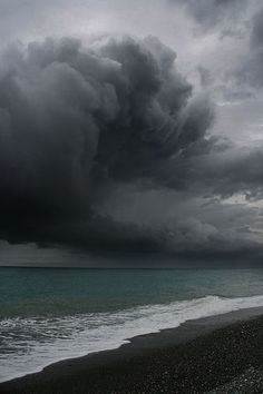 the calm sea and the beauty of its colour before a storm