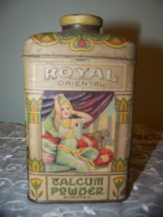 Vintage ROYAL ORIENTAL TALCUM POWDER Tin (need this one)