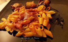 Mezze penne con involtini di melanzane ,ricetta primi piatti