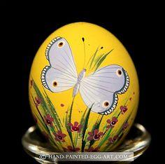 Hand-Painted-Egg-Art. Designs by Margit Jakab. Buckeye Butterfly