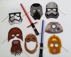 Star Wars VII masks Photo Booth Props by weddingphotobooth