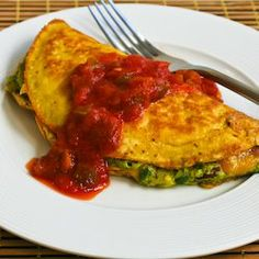 Kalyn's Kitchen®: Recipe for Southwestern Omelet with Easy Guacamole and Salsa
