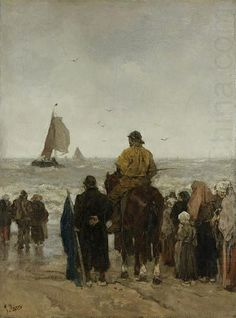 The Arrival of the Boats, by Jacob Maris