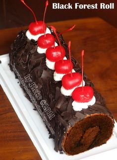 Just My Ordinary Kitchen...: BLACK FOREST ROLL FOR MBA ELVY