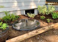 Patio Pond, Ponds Backyard, Front Yard Landscaping, Backyard Ideas, Backyard Waterfalls, Koi Ponds, Backyard Projects, Landscaping Ideas, Plastic Pond Liner