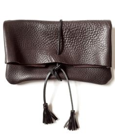 Beautiful leather clutch from Spring Finn & Co.