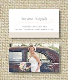 Photography Template - Vintage Business Card Design (digital Photoshop files). $15.00, via Etsy.