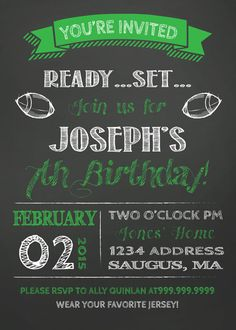 29 Best Super Bowl Invitations Templates and More images | Super ...