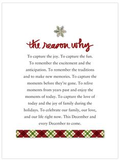 December daily reason why - capture tradition Christmas Journal, Christmas Albums, Christmas Scrapbook, Christmas Minis, Christmas Quotes, Xmas Poems, Christmas Cards, Merry Christmas, December 1st Quotes