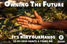 Owning the future means education #Haiti it's #inyourhands