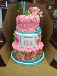 Cute Cake With Lilly First Impression Print Elda Alvarado Sweet 16s Birthday