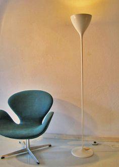 Max Bill, zugeschrieben Baujahr: 1950s Hersteller: BAG Turgi, Schweiz     filigrane BAG Turgi Stehleuchte, die Max Bill zugeschrieben wird