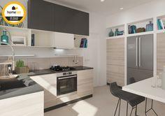 Moderne keuken afgewerkt met hout #homelab #renovatie #renovation #keuken #kitchen