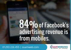 With more than 1.2 billion daily users, Facebook's advertising revenue is generated through mobiles. #SMO #Facebook #PaidMarketing
