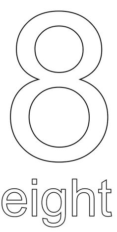 Number Coloring Pages for Kids Numbers 1 10, Letters And Numbers, Preschool Worksheets, Math Activities, Homeschool Math, Homeschooling, Learning Games For Toddlers, Teaching Numbers, Printable Numbers