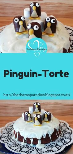 My penguin cake is awesome for the next winter party! Not just Kin . - My penguin cake is awesome for the next winter party! Not only children will love them! Delicious Cake Recipes, Easy Cake Recipes, My Recipes, Recipe Tips, Easter Recipes, Party Desserts, Appetizers For Party, Buffet Dessert, Penguin Cakes