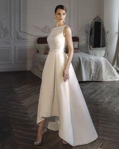 Trend Of The Year: 24 High Low Wedding Dresses ❤ high low wedding dresses simple modest sleveless noranaviano #weddingforward #wedding #bride