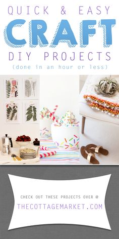 Quick & Easy Home Decor Craft DIY Projects - The Cottage Market