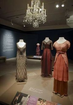 Costumes from 'Downton Abbey' are displayed at the Winterthur Museum in Wilmington, Del.