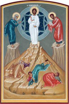 Transfiguration by Gerardo Zenteno Religious Pictures, Religious Icons, Religious Art, Roman Church, The Transfiguration, Paint Icon, Byzantine Icons, Christmas Icons, Icon Collection