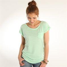 T-shirt ajouré turquoise clair - pimkie