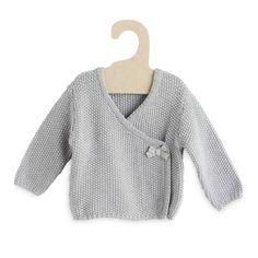 Tricot wikkelvestje sneeuw wit Meisjes babykleding