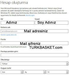 Hotmail eposta aadresi almak isteyen kullanıcılara yardım ve destek konusunda hazırlanmış bir web sitesi